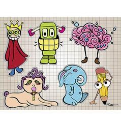 creatures1 380 vector image vector image