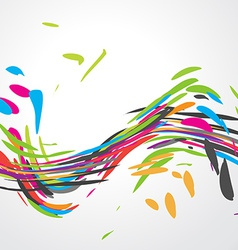 Abstract colorful wave design vector image