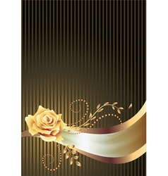 Background with golden ornament vector image