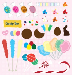 Candy Pieces Collection vector image