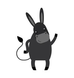 Cartoon donkey farm animal vector image