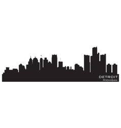 Detroit Michigan skyline vector image vector image