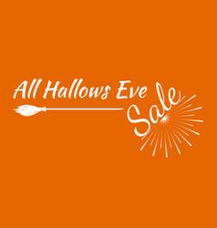 halloween greeting card calligraphy vector image