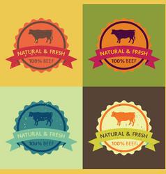 natural fresh beef food set vector image