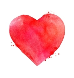 Watercolor Valentine heart vector image vector image