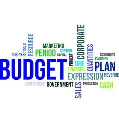 word cloud budget vector image