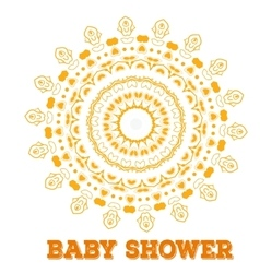 baby shower Symmetry circle shape child vector image vector image