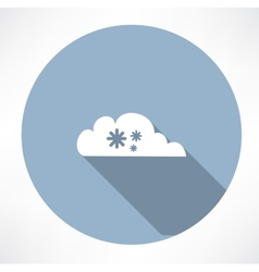 Cloud with snowfall icon vector