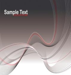 gray wave stroke vector image