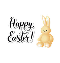 happy easter with vanilla hare vector image vector image