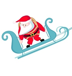 Santa skydiving vector image vector image