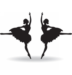 Set of Ballet dancers silhouette vector image