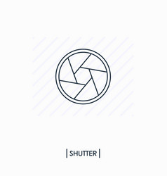 shutter outlinline icon isolated vector image