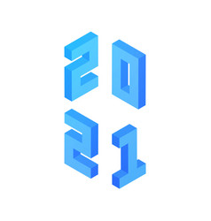 2021 new year vector image