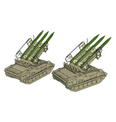 3d on white background a military missile tank vector