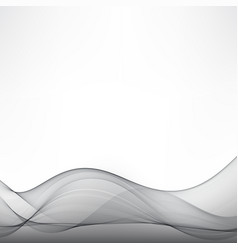 abstract grey white waves and lines pattern vector image