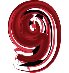 abstract number 9 vector image