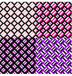 Abstract seamless pattern set - square background vector