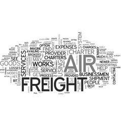 Air freight charter text word cloud concept vector