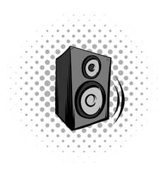 Audio speaker comics icon vector image