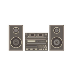 audio system music center on white flat icon vector image