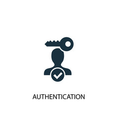 Authentication icon simple element vector
