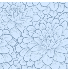 Background blue flowers Hand-drawn contour lines vector