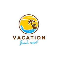Beach vacation resort outdoor recreation trip vector