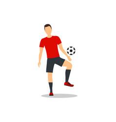 cartoon football player vector image