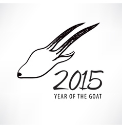 Chinese New Year of the Goat goat icon vector image