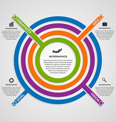 Circle colorful infographic vector