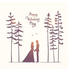 Couple in forest vector