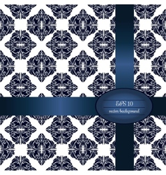 Dark blue classic seamless pattern in white vector image