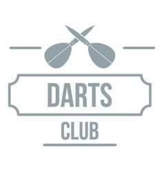 darts logo simple gray style vector image