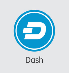 Dash coin - cryptocurrency logo vector