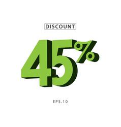 Discount 45 template design vector