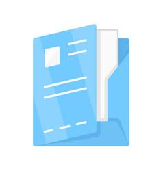 Document folder paper case flat design color icon vector
