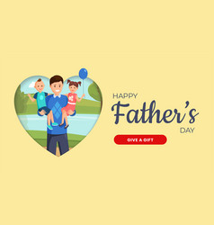 father day web banner template family vector image