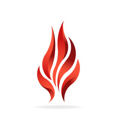 fire flame fuel logo design vector image