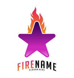 fire stars logo logo design inspiration icons vector image