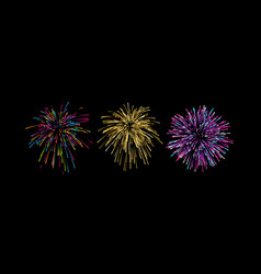 firework bursting shapes vector image