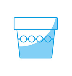 Flower pot icon vector