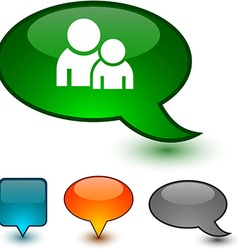 Forum speech comic icons vector image