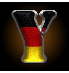 Germany metal figure y vector