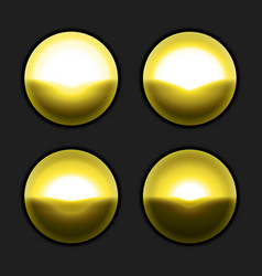 golden buttons template for website design vector image