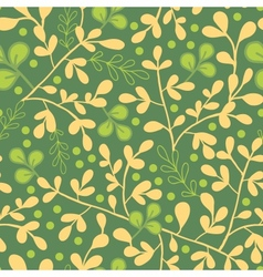 Green and gold leaves seamless pattern background vector