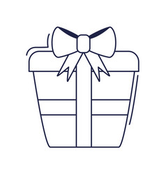 happy birthday wrapped gift box surprise vector image