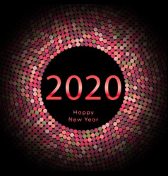 happy new year 2020 dot background calendar vector image