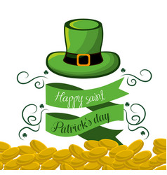 happy st patricks day icon vector image