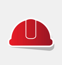 hardhat sign new year reddish icon with vector image